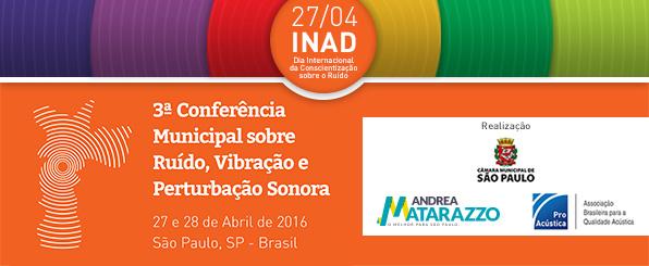 ProAcústica INAD 2016 - Dia Internacional de Conscientização Sobre o Ruído